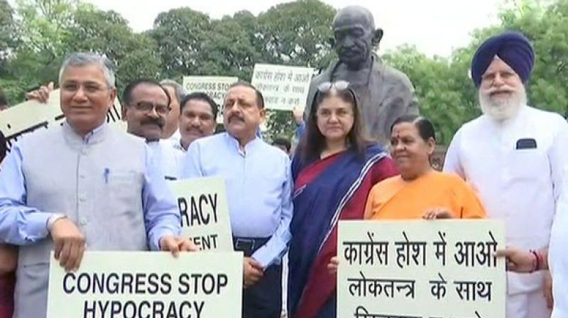 BJP MPs to fast on April 12 against opposition hold-up of Parliament