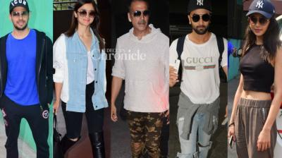 Bollywood stars stepped out for personal and professional reasons on Thursday and were captured by the paparazzi in Mumbai. (Photo: Viral Bhayani)