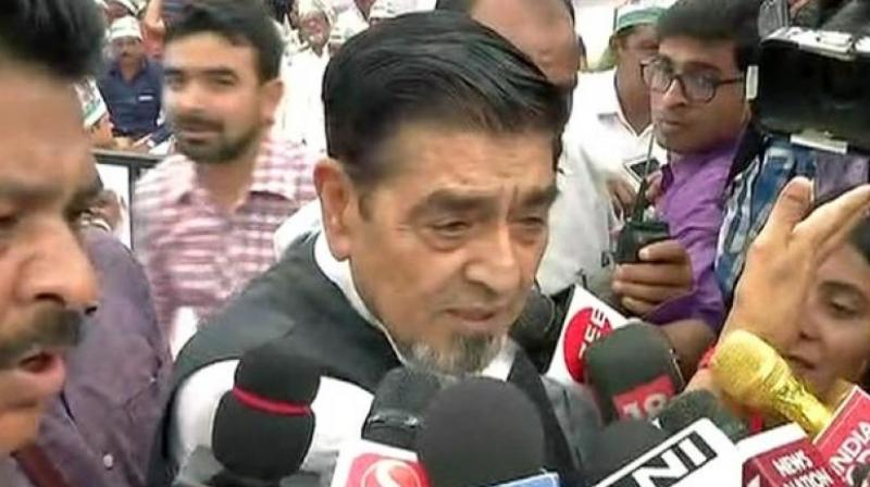 Controversy over Jagdish Tytler's presence at Congress protest against Modi govt