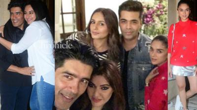 Manish Malhotra celebrated his birthday on Tuesday with stars from the film industry at his residence in Mumbai on Tuesday. (Photo: Viral Bhayani/ Twitter)