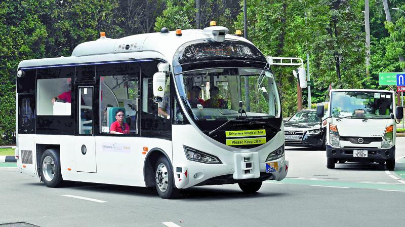 Visitors can use an app to book the shuttles. (Photo: AFP)