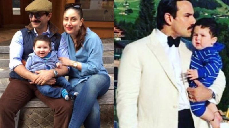 Image result for latest images of saif ali khan with kareena kapoor and taimur