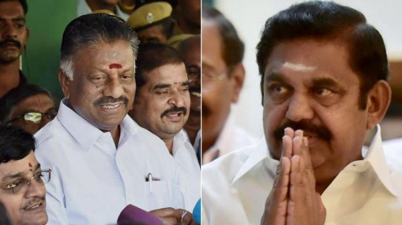 AIADMK (PTA) chief O Panneerselvam and Tamil Nadu Chief Minister E Palaniswami. (Photos: PTI)