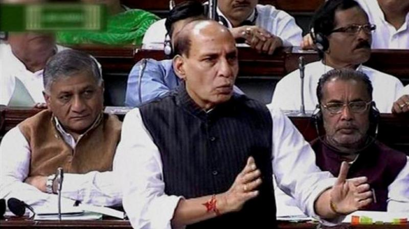 In the Lok Sabha, Rajnath Singh said since there were prohibitory orders in Assam, state officials had 'requested' TMC MPs to return from the airport itself. (Photo: File | ANI)
