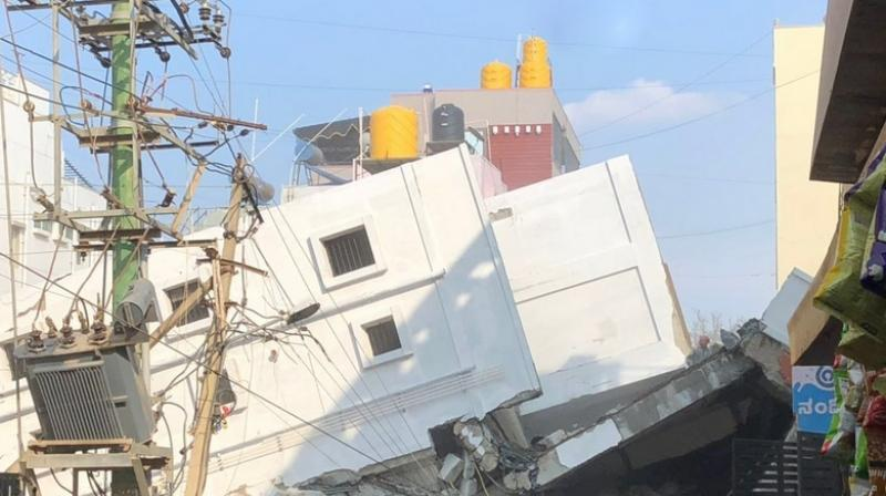 Karnataka: At least three killed in building collapse, many feared trapped