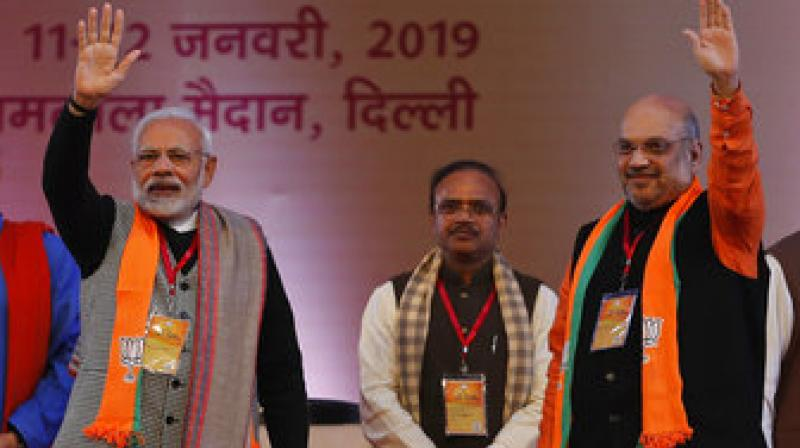 "Amit Shah said the PM Modi government has ""fulfilled"" the dreams of crores of youths with 10 per cent reservation in jobs and education for the general category poor. (Photo: AP)"