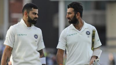 Cheteshwar Pujara and Virat Kohli have strengthened India's position on Day three of the third Test against England in Nottingham. (Photo: AP)