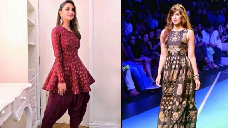 Safe style: Wearing dhoti pants like Parineeti Chopra or a tight fitting dress like Kriti Sanon will not just make you look stylish, but will keep you safe too!