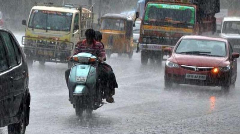 According to IMD observatory at Nungambakkam recorded 14 mm of rainfall between 7 and 9 pm.