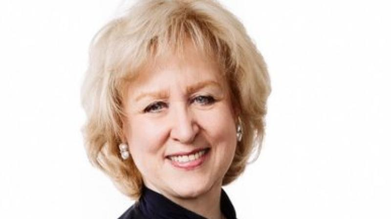 Campbell, who was prime minister from June to November 1993, triggered the debate with a tweet that read: 'I am struck by how many women on television news wear sleeveless dresses -- often when sitting with suited men.' (Photo: Twitter/ @AKimCampbell)