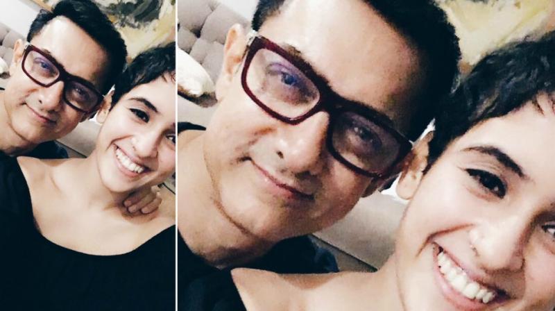 Sanya Malhotra wishes Aamir Khan on his birthday.