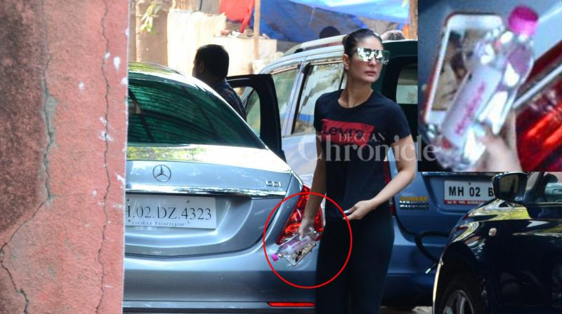 Kareena Kapoor Khan spotted outside her gym.