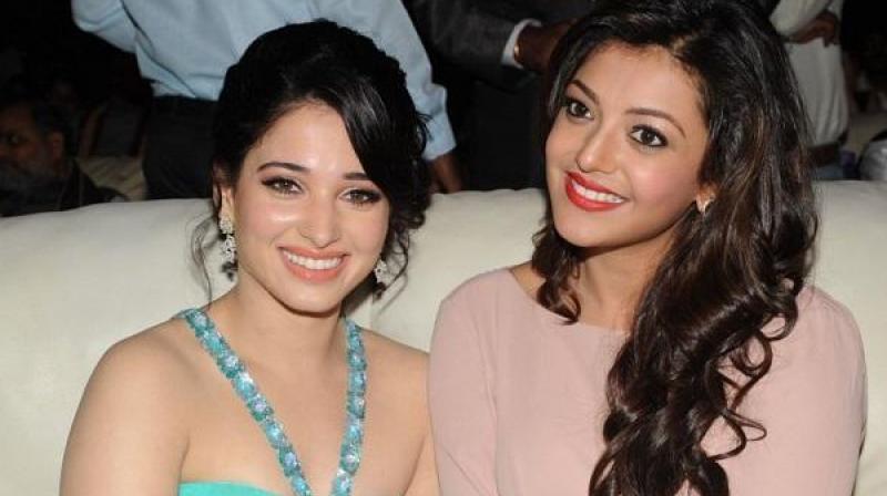 Tamannaah Bhatia and Kajal Aggarwal.