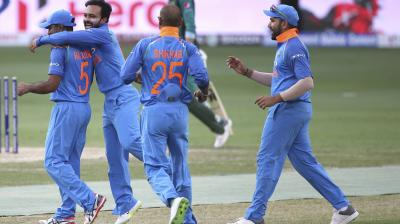 Kedar Jadhav was the pick of the Indian bowlers. (Photo: AP)