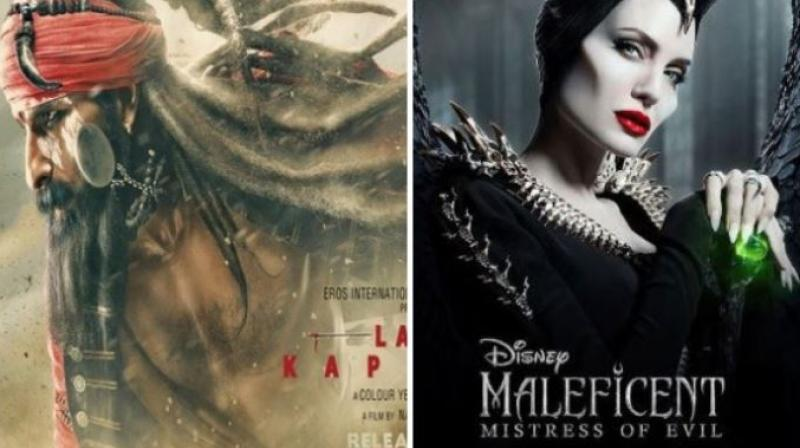 A still from 'Laal Kaaptaan' and 'Maleficent 2'.
