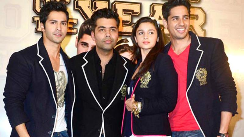 Varun, Alia, Karan and Sidharth.