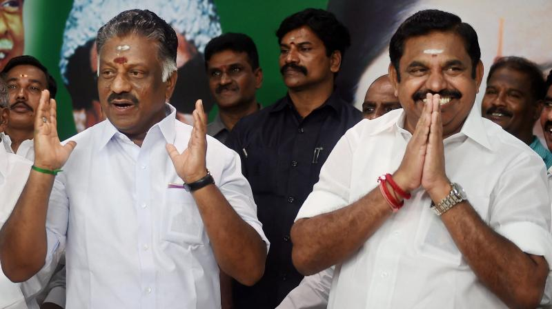 Senior AIADMK leader R Vaithilingam and State Ministers D Jayakumar and K T Rajendra Balaji said it has been decided that the present arrangement which gave full powers in the party to Palaniswami and Panneerselvam will continue. (Photo: PTI)