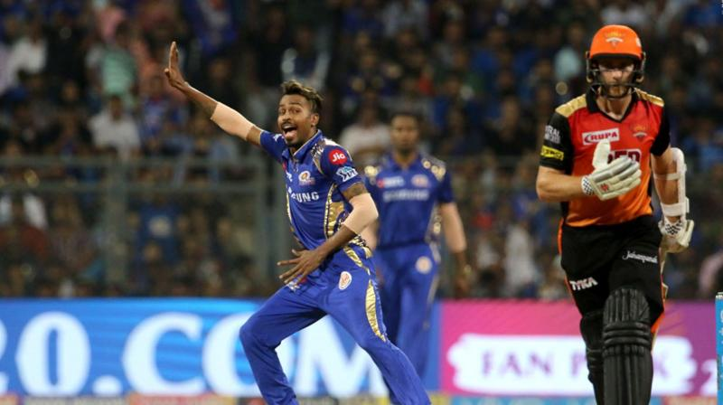 Currently, MI are on third position with 14 points from 12 games, while the SRH are in the fourth spot with 12 points from as many matches.  (Photo: BCCI)