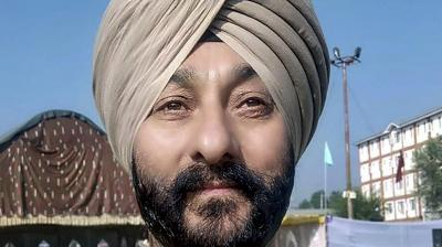 Undated photo of deputy superintendent of police Davinder Singh who was arrested along with two Hizb-ul Mujahideen militants in Kashmir Valley on Saturday, Jan. 11, 2020. (PTI Photo)