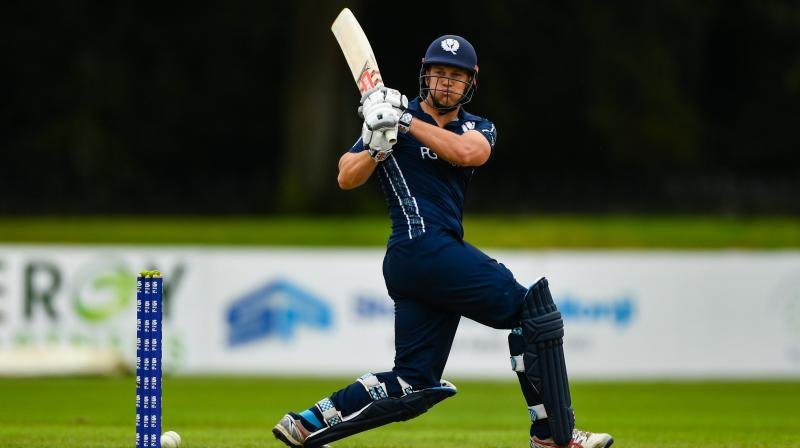 Scotland opener George Munsey was the highest scorer in the match. The left-handed batsman smashed a blistering century and whacked 14 sixes in his innings.  Centurion Munsey scored 127 runs off 56 balls which became the fifth-highest score by a batsman in the shortest format of the game. (Photo: Scotland cricket/Twitter)