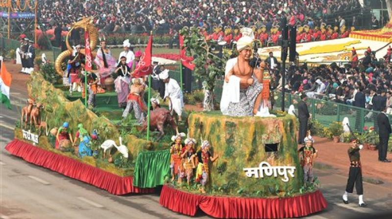 Country showcases cultural diversity and military might at 69th Republic Day parade at Rajpath in presence of 10 ASEAN leaders. (Photo: AP/ PTI)