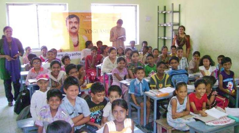 A class in session in one of the Dhyan Foundation schools in Bengaluru —DC