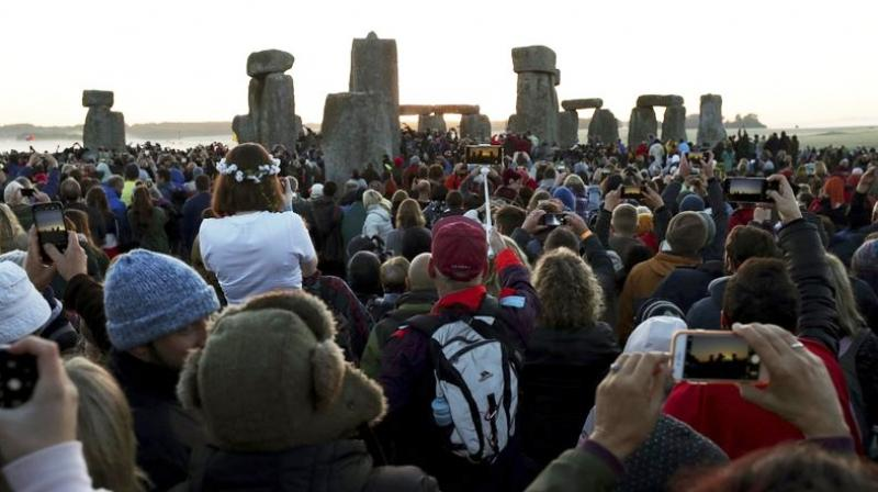 Stonehenge, a World Heritage site, is believed to be 4,500 years old. It is known for its alignment with the movements of the sun. (Photo: AP)
