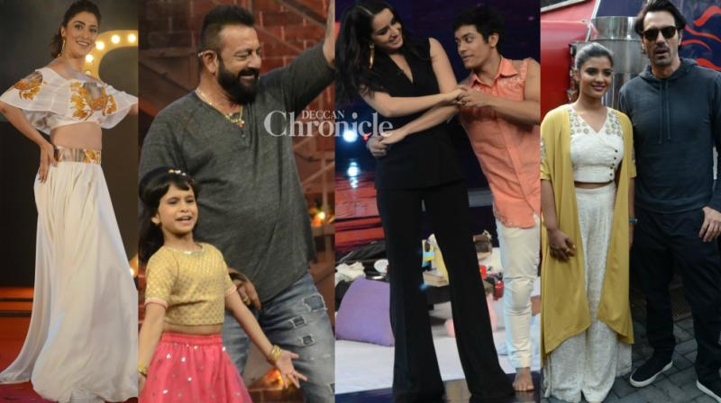 Bollywood stars like Sanjay Dutt, Shraddha Kapoor, Arjun Rampal, Raai Laxmi and others were busy with the promotional activities for their respective films in Mumbai on Monday. (Photo: Viral Bhayani)