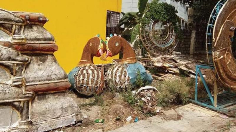 An illegal dumping ground in OMBR Layout  (Image DC)