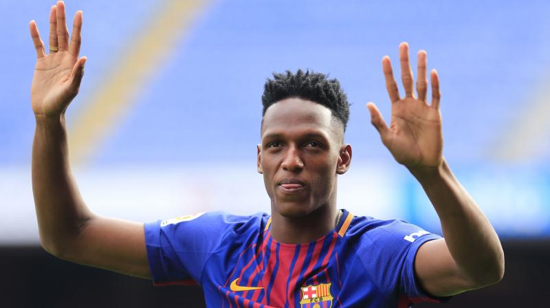 Yet Mina failed to impress in making just six appearances for Barca after joining from Palmeiras in January and the Catalan giants were keen to cash in on the 23-year-old, who cost just 11.8 million euros seven months ago. (Photo: AFP)