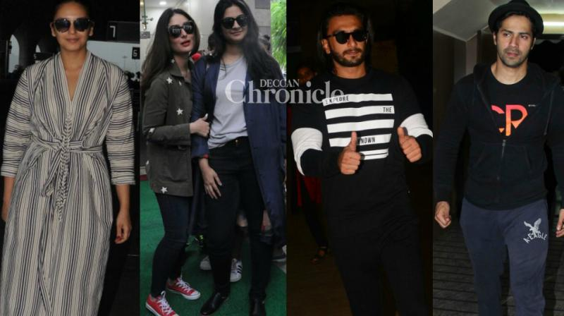 Bollywood stars stepped out in style for their professional and personal commitments in Mumbai. While some of them smiled happily for the cameras, others seemed neutral to the presence of shutterbugs. (Photo: Viral Bhayani)