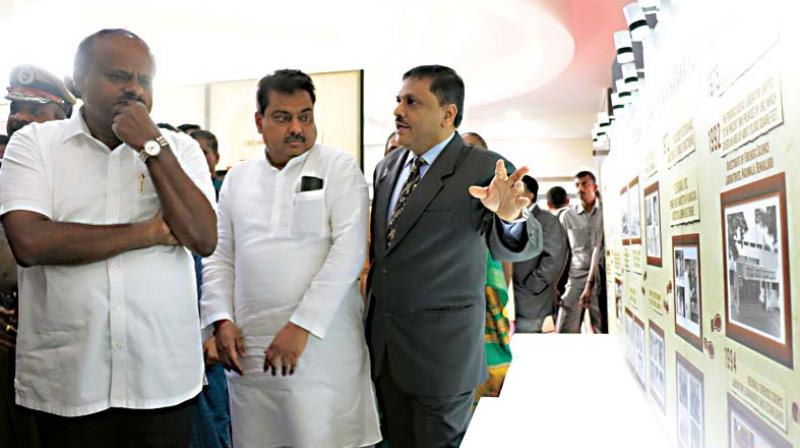 Chief Minister H.D. Kumaraswamy and Home Minister M.B. Patil at a meet on Forensic Sciences on Thursday.