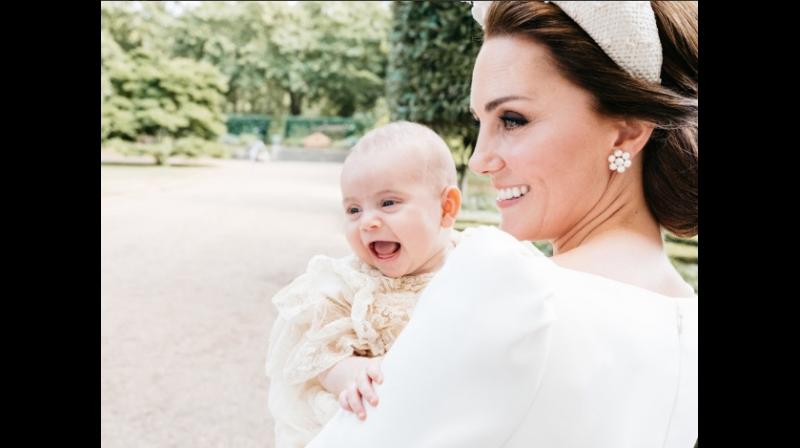 This Photo of Prince Louis and Mother Kate is going