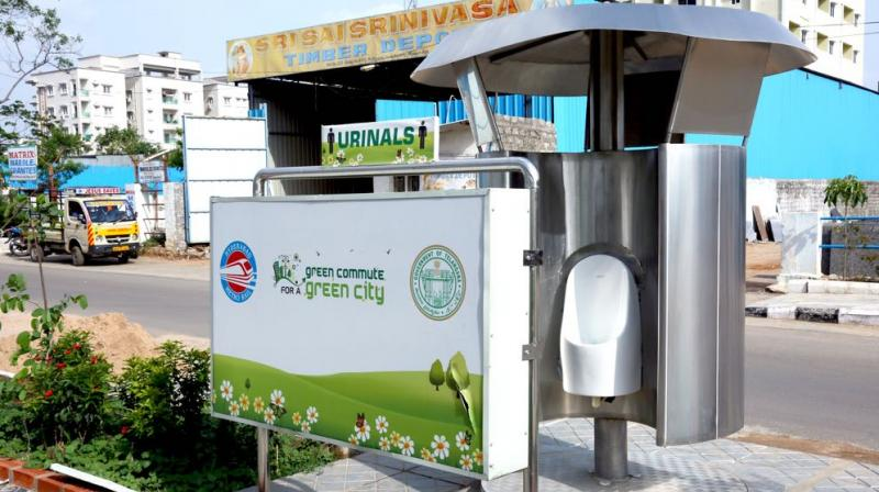 Waterless urinal systems are being built at Metro Rail stations using indigenous technology.  (Image: DC)