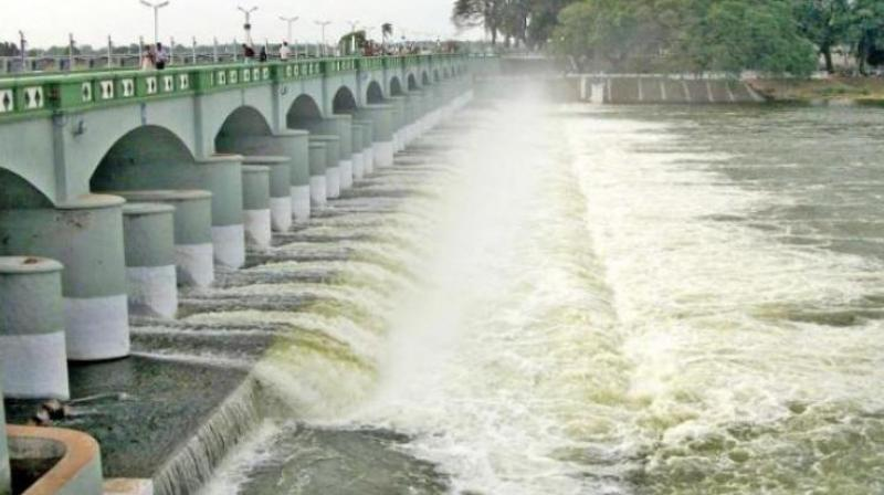 The inflow as measured by the Central Water Commission office at Biligundulu, the point from where the Cauvery enters Tamil Nadu, was 35,000 cusec on Wednesday morning.