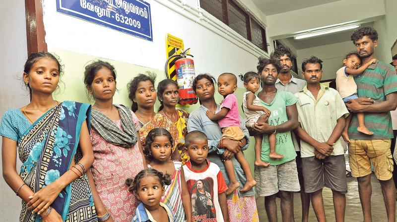 One family was from Sethilapakkam, Tiruvallur district and two families were from KBR Puram in Chittoor district of Andhra Pradesh.