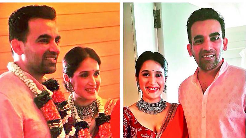 Zaheer Khan ties knot with actress Sagarika Ghatge: Wedding in pictures