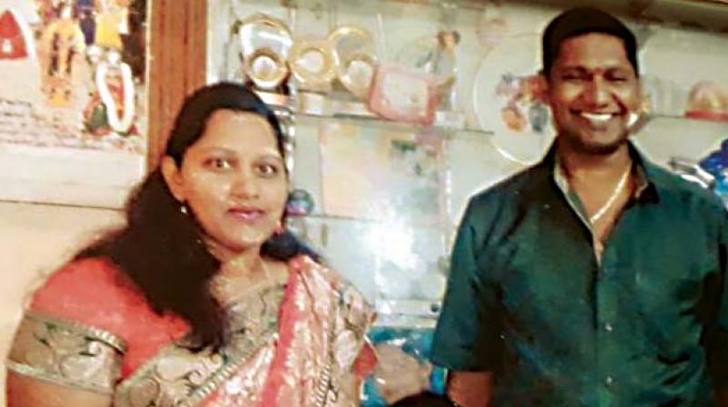A file photo of Babu with his wife Vinutha