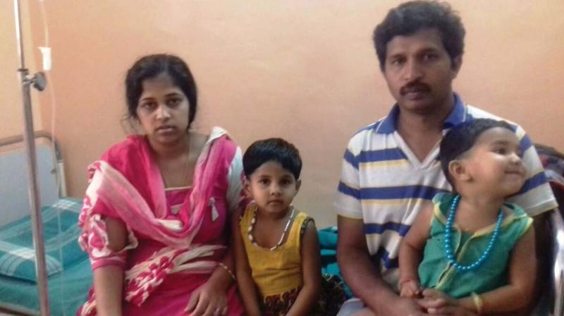 The family who was evicted by CPM workers in Idukki.