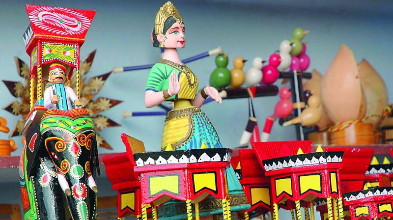 Andhra Pradesh Scarcity Of Wood Hampers Toy Artisans Work