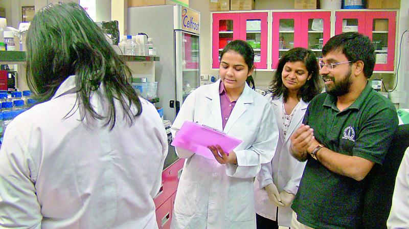 Dr Sathees Raghavan and his team of researchers at Department of Biochemistry, Indian Institute of Science, Bengaluru.