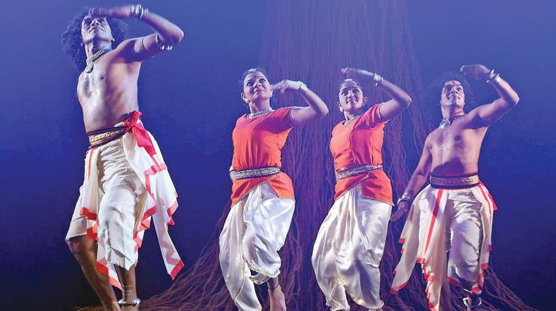 A Natyadarshan performance at  Bharatiya Vidya Bhavan in the city on Friday. (Photo: DC)