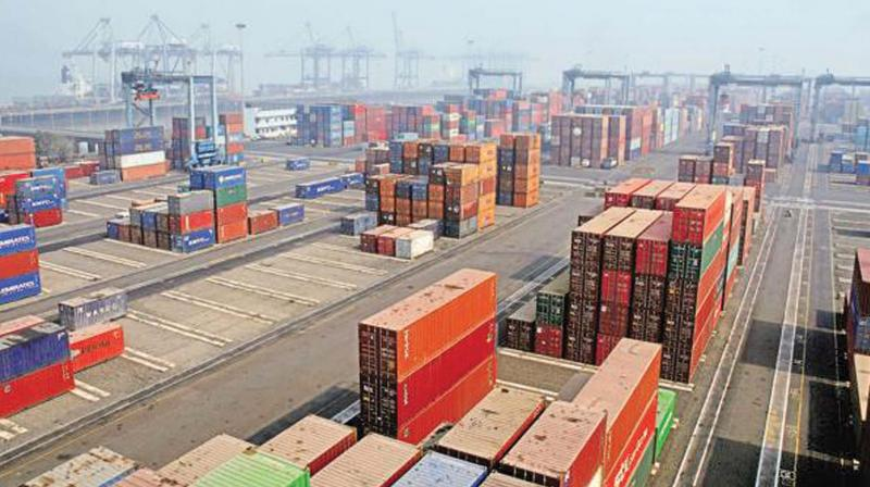 For the full fiscal (2018-19), exports grew by 9 per cent to USD 331 billion and imports rose by 8.99 per cent to USD 507.44 billion.