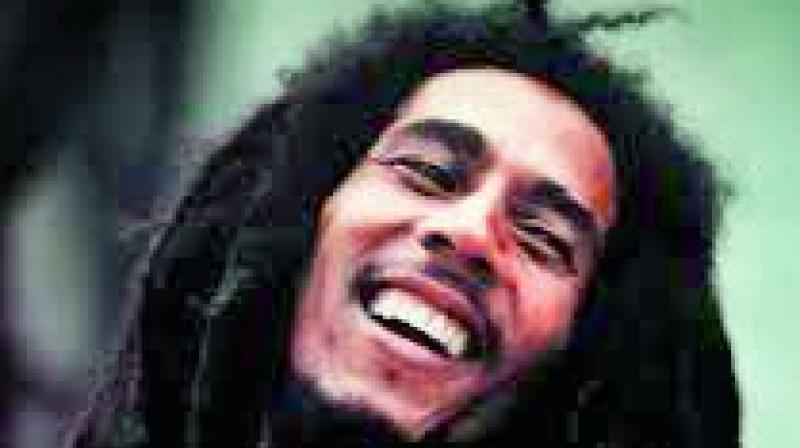 Jamaican reggae legend Bob Marley