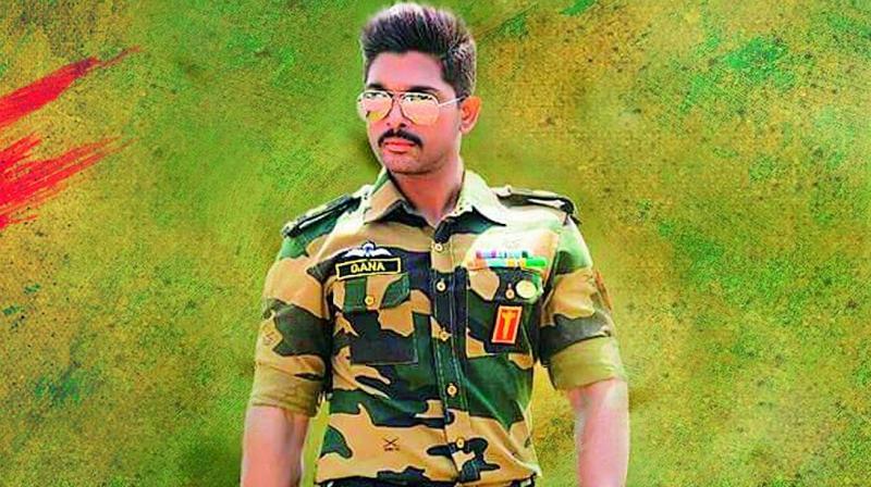 Allu arjun images in army dress