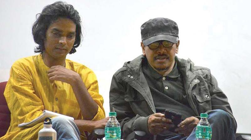 Filmakers Somanth Waghmare (left) and Supriyo Sen