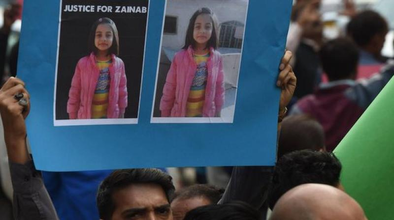 On January 5, the girl had gone missing while going to a religious tuition centre near her house in Kasur city, some 50km from Lahore. (Photo: AFP)