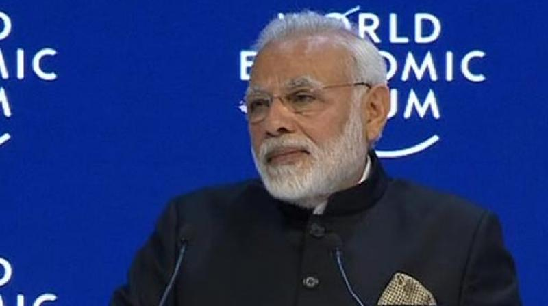 Narendra Modi is the first Indian Prime Minister to attend the WEF in Davos since Deve Gowda in 1997. (Photo: Twitter | ANI)