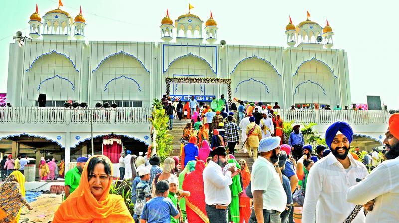 Sikh devotees at the inauguration of Darbar Saheb of Gurudwara Barambala, Sikh Chawniat, Attapur, Kishanbagh on Sunday. (Photo:DC)