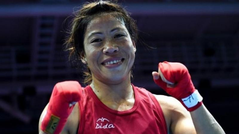 Mary Kom defeated Filipino Josie Gabuco 4-1 to win the 48kg category gold.